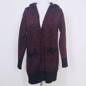 Miss Me Hooded Long Sweater Cardigan